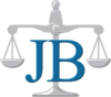 San Juan Capistrano personal injury lawyer, Law Office of John P. Burns logo, justice scale